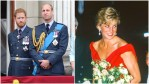 Prince William and Harry and Princess Diana at royal events