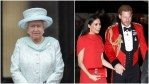 Queen Elizabeth and Prince Harry and Meghan Markle at royal events
