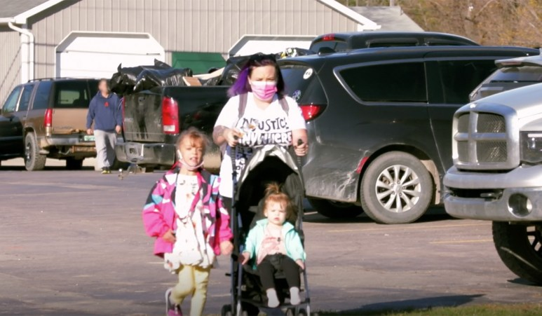 The girls- Catelynn, Nova, and Vaeda- leaving their polling station.