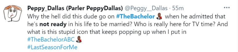A twitter user complained about Matt James of The Bachelor.