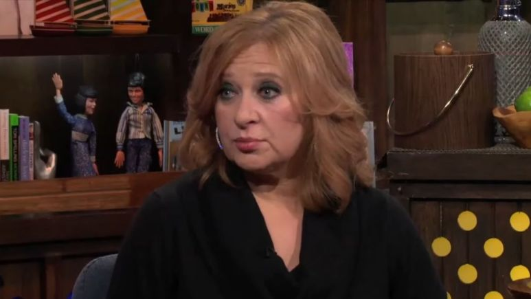 Caroline Manzo during an episode of WWHL