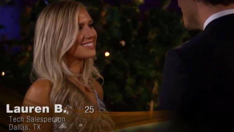Lauren Burnham walks on to The Bachelor
