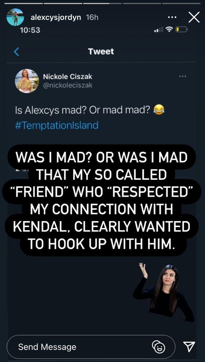 Alexcys' IG story