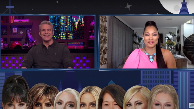 Garcelle preparing her answer to one of Andy Cohen's questions