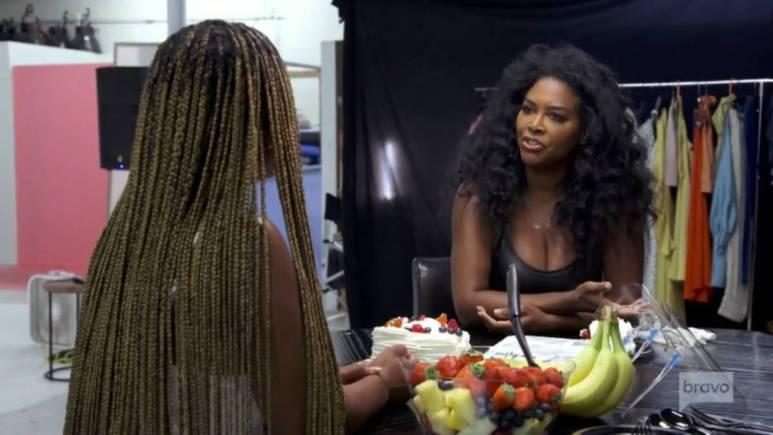 Kenya Moore and LaToya Ali film for RHOA