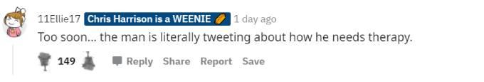 Fans slam Arie on Reddit.