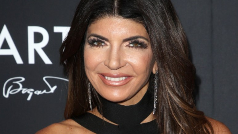 Teresa Giudice poses at an entertainment industry event.