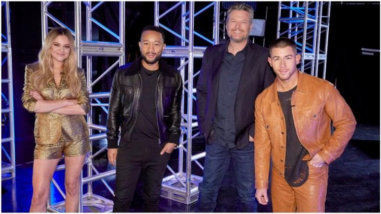 Kelsea Ballerini, John Legend, Blake Shelton, and Nick Jonas coach The Voice.