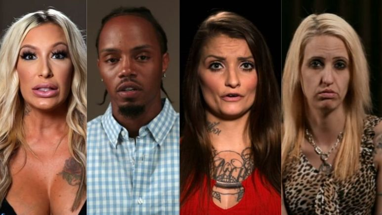 Lacey, Mike, Destinie, and Tracie from Love After Lockup