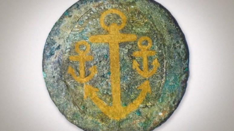 A Royal Navy button found on Oak Island
