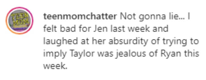 A Teen Mom fanpage thought Jen's accusation was absurd