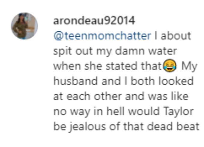 A fan almost spit out their water when Jen made her accusation