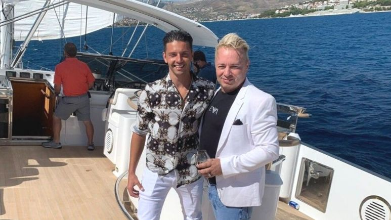 Below Deck Sailing Yacht charter guest Scott Hutchinson is Barrie Drewitt-Barlow's fiance.