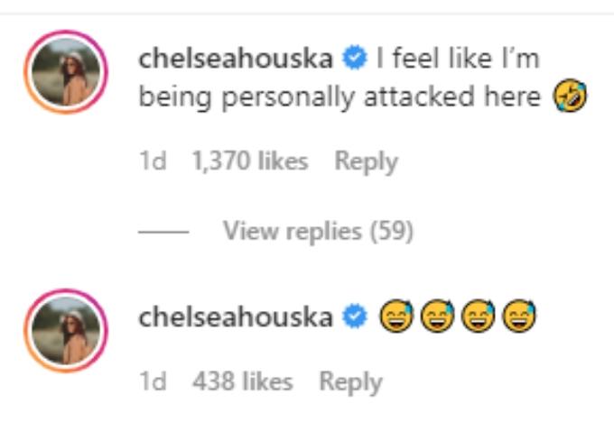Chelsea Houska laughs at a meme of Adam Lind