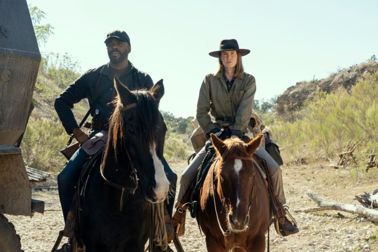 Colman Domingo as Victor Strand and Bobbie Grace as Ranger Samuels, as seen in Episode 10 of AMC's Fear the Walking Dead Season 6