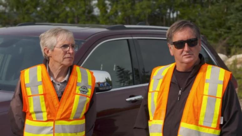Dr. Ian Spooner and Craig Tester on Oak Island