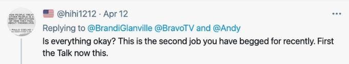 Fan Tweet The Talk for Brandi Glanville.