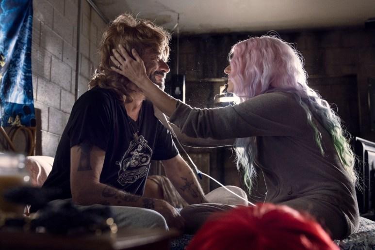 Jeffrey Dean Morgan as Negan and Hilarie Burton as Lucille, as seen in Episode 22 of AMC's The Walking Dead Season 10C