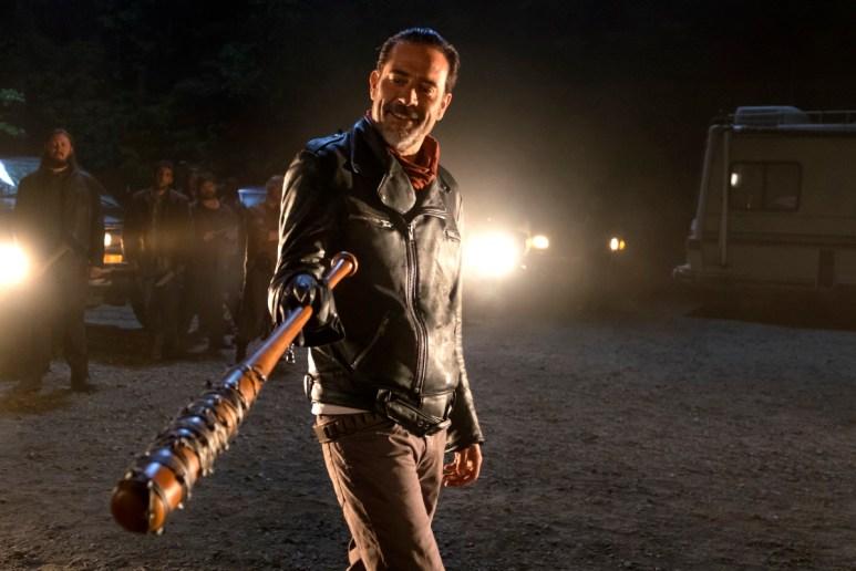 Jeffrey Dean Morgan stars as Negan, as seen in Episode 1 of AMC's The Walking Dead Season 7