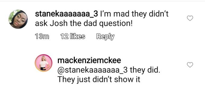 Mackenzie and Josh McKee of Teen Mom OG on Instagram