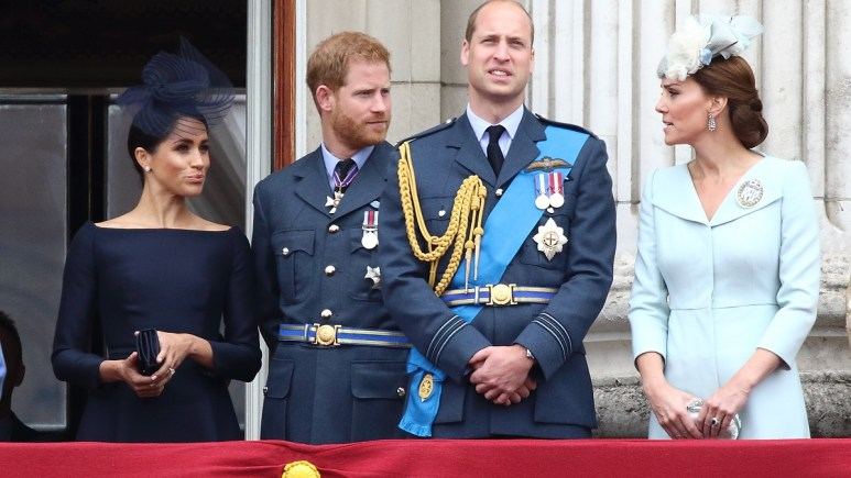The Duke and Duchess of Cambridge and the Duke and Duchess of Sussex at Buckingham Palace