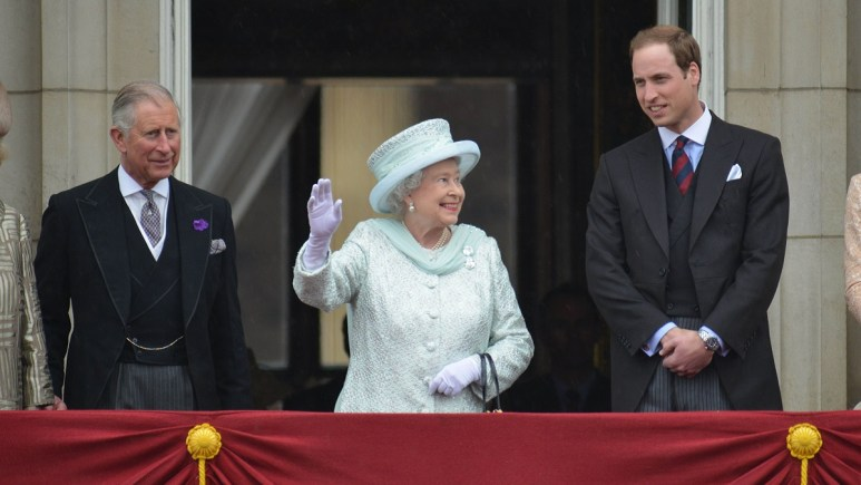 Prince Charles, The Queen, and Prince William