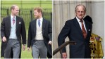 Prince Philip, William and Harry at royal events