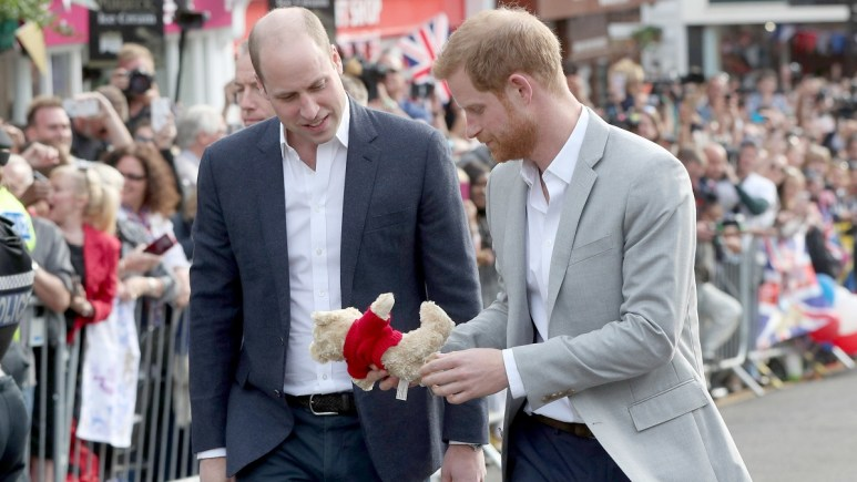 Prince William and Harry attend a royal engagement