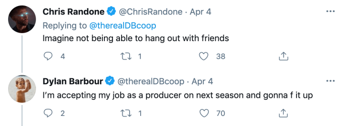 Chris Randone and Dylan Barbour face off on Twitter