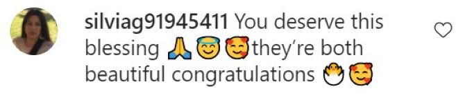 Comment from Jorge Nava's baby announcement.