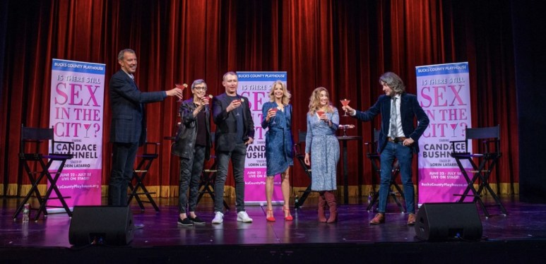 Shot of Candace Bushnell's new stage show