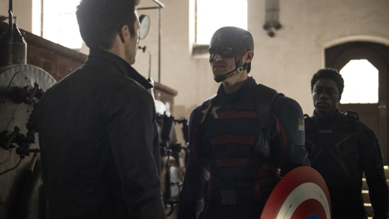 Production still from The Falcon and the Winter Soldier.