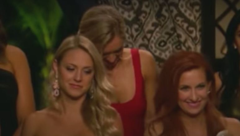 Kylie and Cat step forward during Juan Pablo rose ceremony