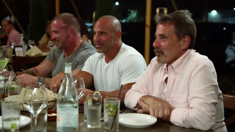 Joe Benigno, Joe Gorga and Frank Catania on RHONJ
