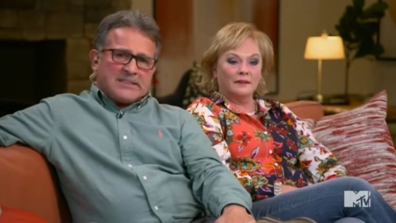Jen and Larry Edwards at the Teen Mom OG reunion