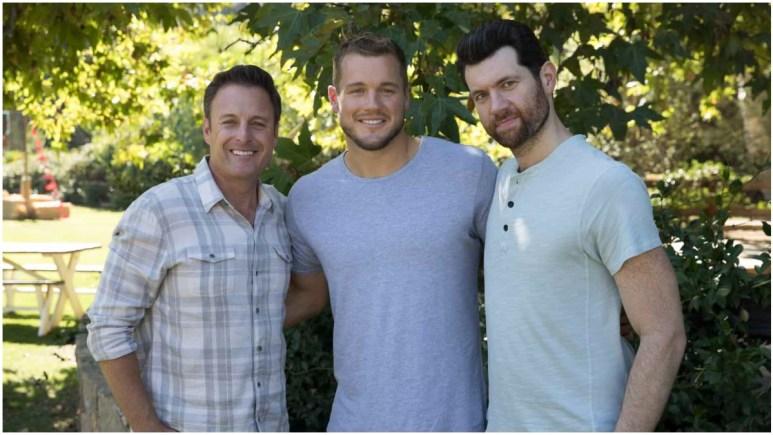 Chris Harrison, Colton Underwood and Billy Eichner