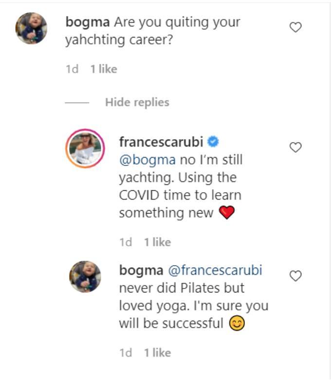 Francesca Rubi's Instagram comments