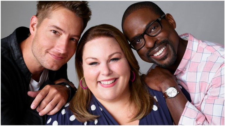 Justin Hartley, Chrissy Metz and Sterling K. Brown star on This Is Us.
