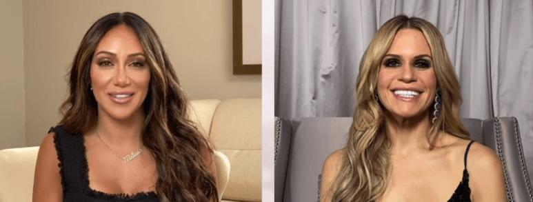 Melissa Gorga and Jackie Goldschneider appear on RHONJ.