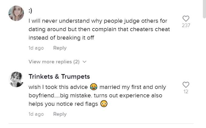 Fans comment on Nick Viall's TikTok