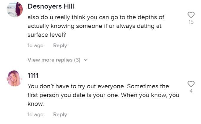 Fans comment on Nick Viall's TikTok.