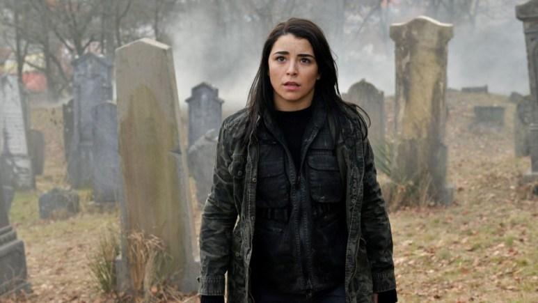 Nicole Muñoz on the set of Van Helsing