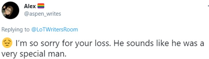 Another fan sends condolences
