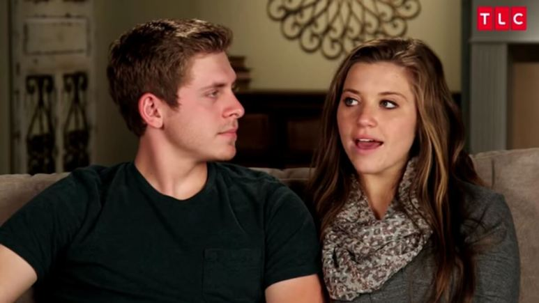 Austin and Joy-Anna in a Counting On confessional.
