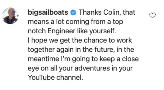 Captain Glenn gushes over Colin