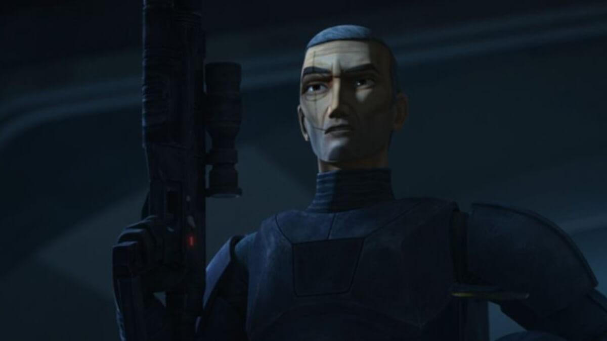 Star Wars - The Bad Batch: Crosshair's black armor has ominous undertones