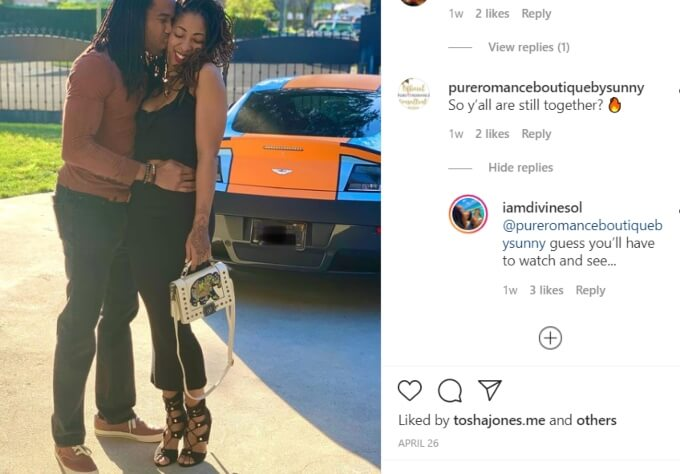 Tayler Middleton and Dimitri Snowden of Seeking Sister Wife on Instagram