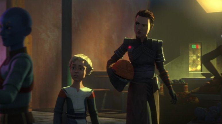 Fennec Shand and Omega in Star Wars The Bad Batch.