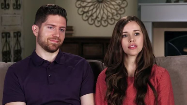 Jessa and Ben in a Counting On confessional.
