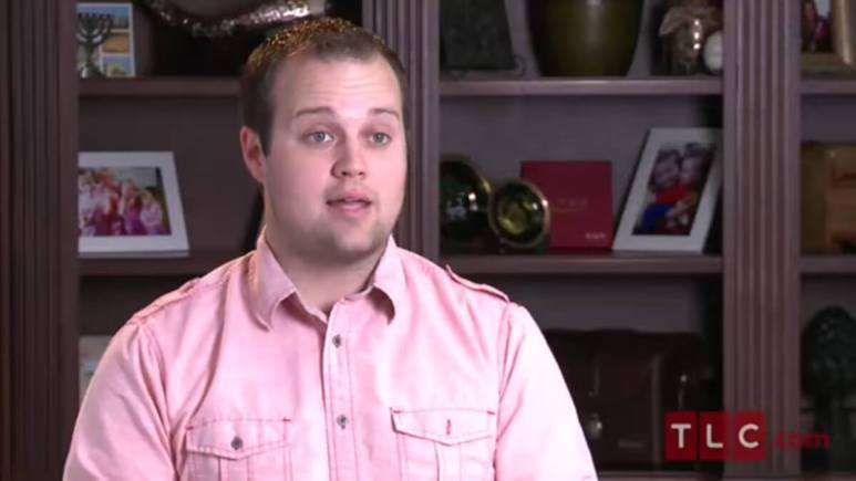 Josh Duggar in a 19 Kids and Counting confessional.